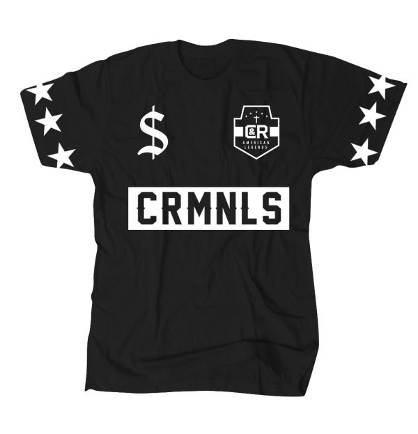 REAL CRMNLS TEE BLACK