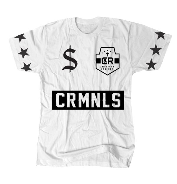 REAL CRMNLS TEE WHITE
