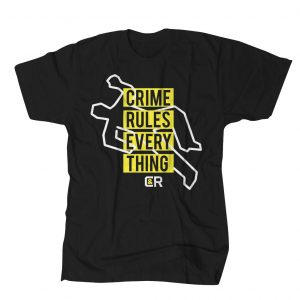 CRIME RULES TEE BLACK