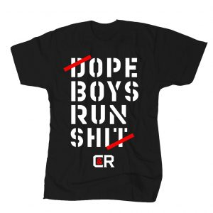 WE RUN IT TEE BLACK