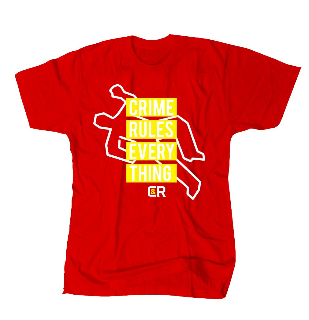 CRIME RULES TEE RED