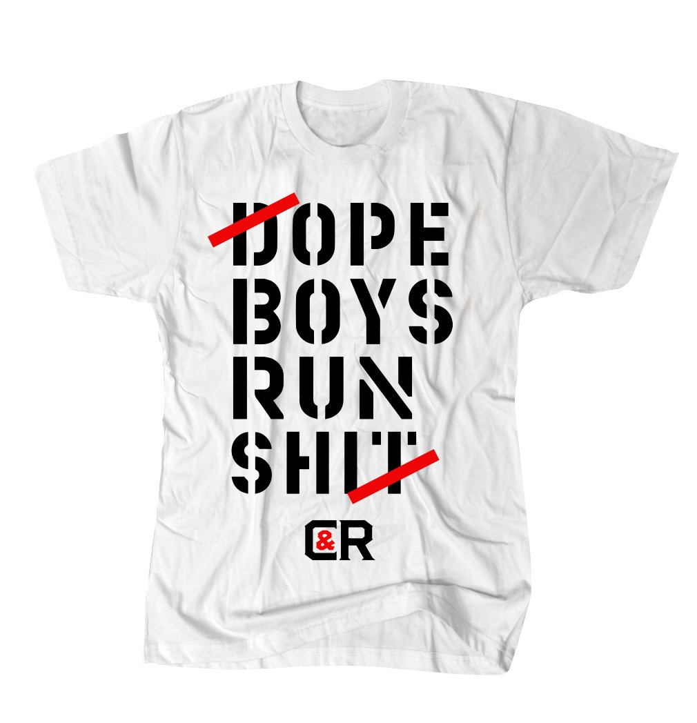WE RUN IT TEE WHITE